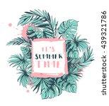 vector illustration tropical... | Shutterstock .eps vector #439321786