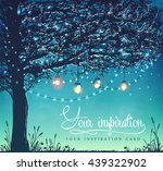 hanging decorative holiday... | Shutterstock .eps vector #439322902