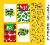 vector card with farm... | Shutterstock .eps vector #439323652