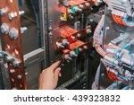electrician near the low... | Shutterstock . vector #439323832