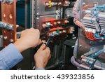 electrician near the low... | Shutterstock . vector #439323856