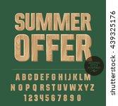 vector set of alphabet letters  ... | Shutterstock .eps vector #439325176