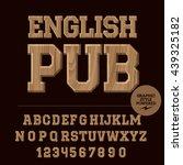 vector set of alphabet letters  ... | Shutterstock .eps vector #439325182