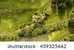 aerial view of the field with... | Shutterstock . vector #439325662
