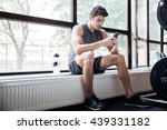 fitness man wearing sportswear... | Shutterstock . vector #439331182