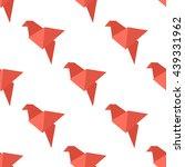 origami bird seamless pattern.... | Shutterstock . vector #439331962