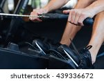 cropped image of a fitness... | Shutterstock . vector #439336672