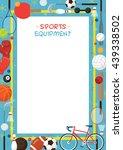 sports equipment  flat icons... | Shutterstock .eps vector #439338502