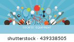 sports equipment  flat icons... | Shutterstock .eps vector #439338505