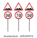 set of 3 signs  isolated on... | Shutterstock .eps vector #439339372