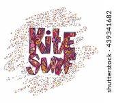 design t shirt. kite surfing... | Shutterstock .eps vector #439341682
