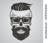 bearded skull illustration | Shutterstock .eps vector #439342666