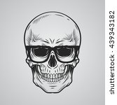 skull with glasses | Shutterstock .eps vector #439343182