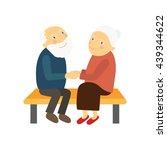 two lovers elderly | Shutterstock .eps vector #439344622