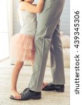 cropped image of young father... | Shutterstock . vector #439345306