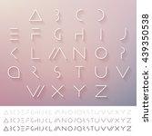 hipster minimal slim alphabet... | Shutterstock .eps vector #439350538