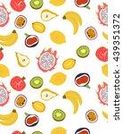 fruits seamless pattern | Shutterstock .eps vector #439351372