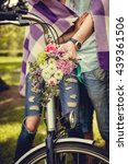 colorful flowers bouquet on... | Shutterstock . vector #439361506
