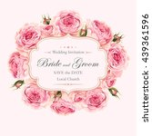vintage wedding invitation | Shutterstock .eps vector #439361596