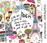 Cute Paris Card   Seamless...
