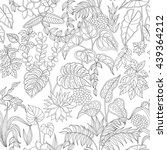pattern with contoured tropic... | Shutterstock .eps vector #439364212