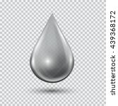 transparent water drop on light ... | Shutterstock .eps vector #439368172