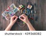 making of handmade jewellery....   Shutterstock . vector #439368382