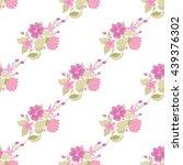elegant seamless pattern with... | Shutterstock .eps vector #439376302