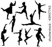 collection of vector dance... | Shutterstock .eps vector #43937743
