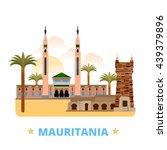 mauritania country design... | Shutterstock .eps vector #439379896