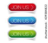 join us button set vector   Shutterstock .eps vector #439384822