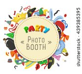 party birthday photo booth... | Shutterstock .eps vector #439385395