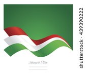 hungary abstract ribbons flag... | Shutterstock .eps vector #439390222