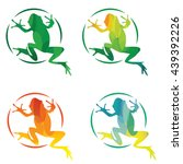 set of modern vector frog... | Shutterstock .eps vector #439392226
