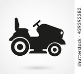 lawn tractor icon isolated on... | Shutterstock .eps vector #439392382