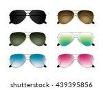 aviator sunglasses set....   Shutterstock .eps vector #439395856