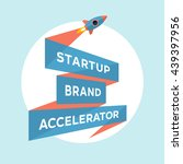 logo for start up project with... | Shutterstock .eps vector #439397956