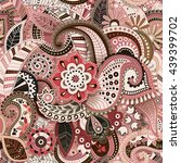 colorful seamless pattern.... | Shutterstock . vector #439399702