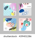 set of cards and posters with... | Shutterstock .eps vector #439401286