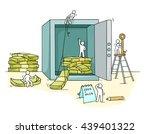 sketch of money in the safe... | Shutterstock .eps vector #439401322
