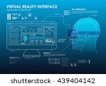 hud portable virtual reality... | Shutterstock .eps vector #439404142