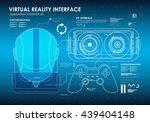 hud portable virtual reality... | Shutterstock .eps vector #439404148