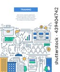 business training   vector line ... | Shutterstock .eps vector #439404742
