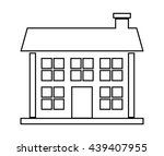 home family. house with door... | Shutterstock .eps vector #439407955