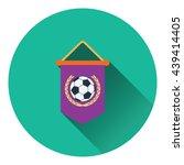 football pennant icon. flat...