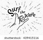 retro grunge black and white... | Shutterstock .eps vector #439415116