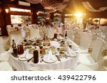 amazing luxury decorated tables ... | Shutterstock . vector #439422796