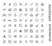 universal doodle icons for... | Shutterstock .eps vector #439426318