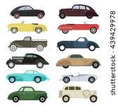 retro cars icons set vintage... | Shutterstock .eps vector #439429978
