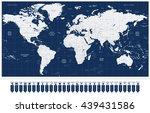 world map and navigation map... | Shutterstock .eps vector #439431586